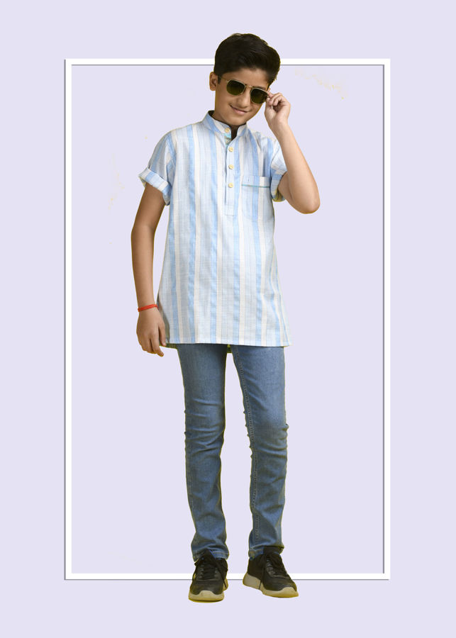 Picture of Mfab9 Boys short  cotton kurta